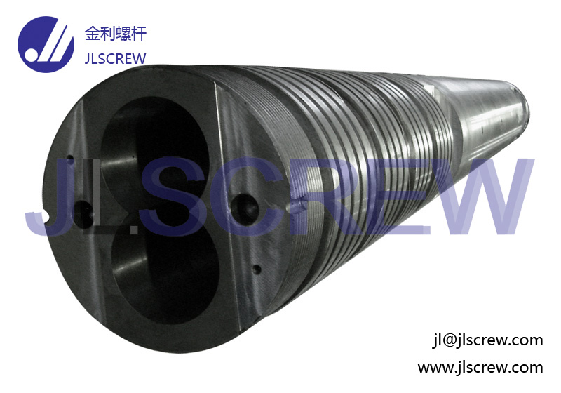 Parallel twin screw and barrel