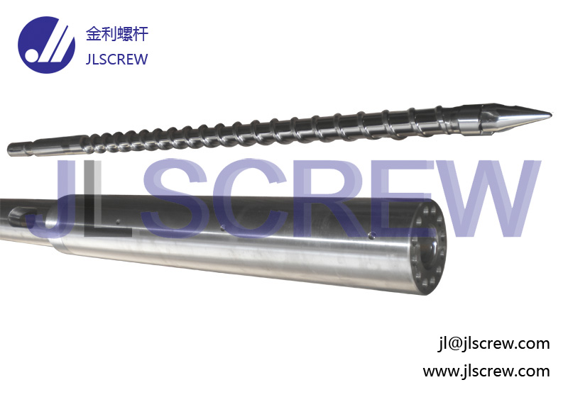 Injection single screw and barrel