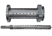 Rubber screw and barrel